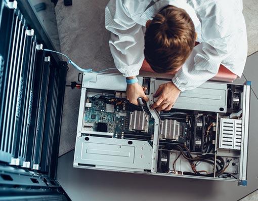 dépannage informatique sur serveur
